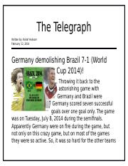 Germany Demolishing Brazil 7-1.docx