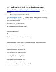 6.02 Cash Conversion Cycle and Working Capital (1).docx