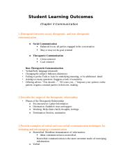 Student Learning Outcomes chapt 3 .docx