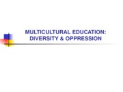Multiculturalism Education Oppression