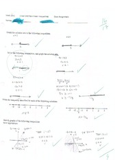 linear and non linear inequalities assignment