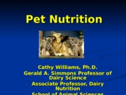 Chapter 17 - Pet Nutrition