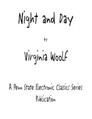 Virginia Woolf - Night and Day (2)
