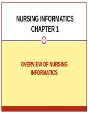 1410419749.4045Chapter 1 Overview of Nursing Informatics (1)