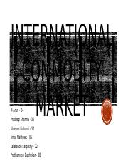 Group 3 Commodity Market