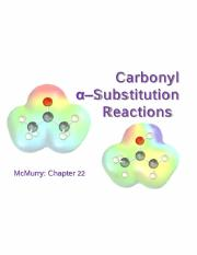 Lecture 12 - Carbonyl Alpha-Substitution Reactions
