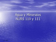 Agua y Minnerales