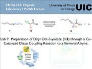CHEM 233 - lab9_233SU09 - Preparation of Ethyl Oct-3-ynoate (13)