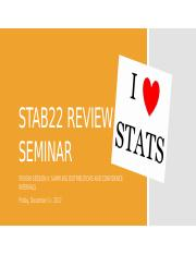 STAB22_Review_Session_II FALL2017 - SamplingDist&CIs (1).pptx