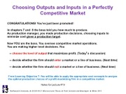 Lecture 19 PC Output and Input Decisions