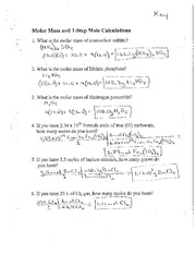 Printables Mole Ratio Worksheet mole homework packet answer key name 1 i hour empirical formula 6 pages moles and formulas round robin review key