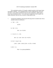 LIR832-Qualifying Exam with Answers Summer 2004