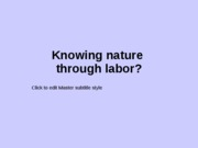 12_Knowing_nature_labor2011