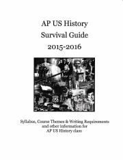 APUSH Survival Guide 2015-16