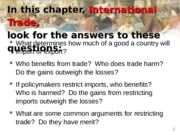 Lecture notes on International Trade
