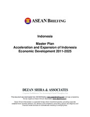 ASEAN_Indonesia_Master Plan Acceleration and Expansion of Indonesia Economic Development 2011-2025