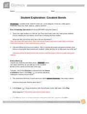 CovalentBondsSE - Google Docs.pdf - Name Date Student ...