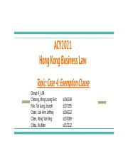 ACY2021 Hong Kong Business Law Topic_ Case 4_ Exemption Clause.pptx
