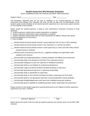 Supervision Skills Evaluation Forms
