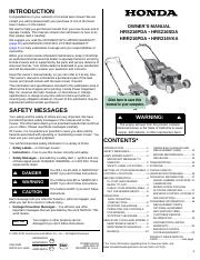 Honda Mower Manual