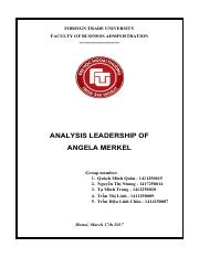 ANALYSIS LEADERSHIP OF ANGELA MERKEL (1)