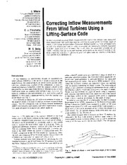 Correcting inflow measurements from wind turbines using a lifting surface code