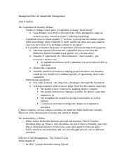 Managerial Ethics - exam 1 outline.docx