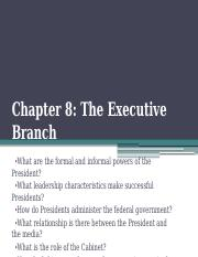 11. Chapter 8-The Presidency.pptx