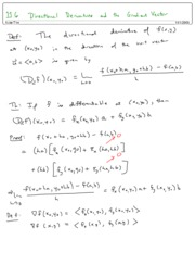 11.6 Directional Derivatives and the Gradient