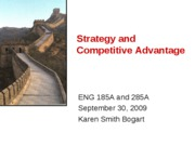 093009 Strategy and Competitive Advantage Posting