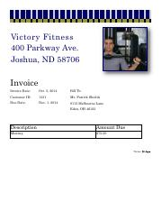 Apply 7-1 Victory Fitness Invoice Complete