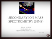 Secondary Ion Mass Spectrometry [SIMS]