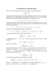 ConditionalConvergence