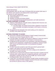 Notes Biology Of Aids UNDER