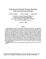 A Randomized parallel sorting algorithm with an experimental study