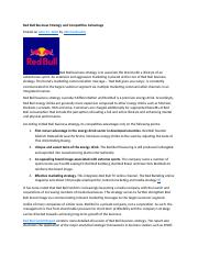 Red Bull Business Strategy and Competitive Advantage