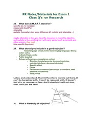 PR exam 1 'research' guide