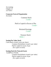 Accounting Chapter 13 concise