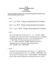 E 245 Homework Assignment 1; Chapter 1; 6th Edition; Solutions