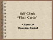 Self Check Chapter 20