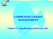 Chapter 9-Using Planning and Decision Aids