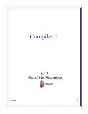Lecture 28 - Compiler