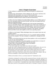 Unit 1 Chapter Exercises
