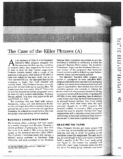 Business_Forum_Ethics_The Case of the Killer Phrases