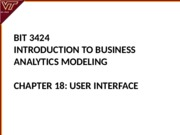 Lecture 18-User Interface