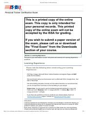 Personal Trainer Certification Exam-Sec-5 pdf - Personal