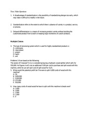 OPRE3310 Exam 2 Review Part 1 Problems