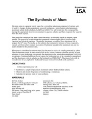 The_Synthesis_of_Alum_Expt_15A