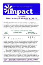 Basic Chemistry A Testament of Creation - Boudreaux