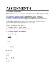 Rich Garrett Mathematics ASSIGNMENT 4.docx